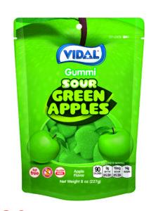 """NEW"" Gummi Sour Green Apples"