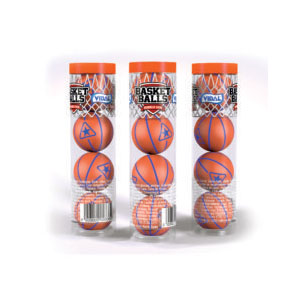 """NEW"" Basketballs 4-PK Tubes"